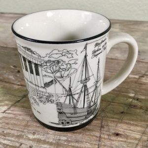 Plymouth Mayflower Pilgrim souvenir coffee tea mug
